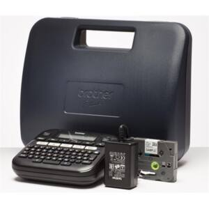 BROTHER Címkenyomtató PT-D210, asztali, QWERTY billentyűzet, TZ tapes 3,5-12 mm, grafikus kijelző, hordtáska