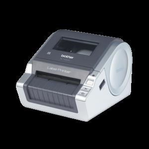 BROTHER Címkenyomtató QL-1060N, asztali, thermál, 69 címke/perc, 110mm/mp, LAN/USB, 300dpi, 4MB, LED kijelző, DK címke