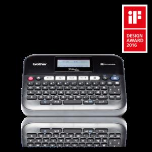 BROTHER Címkenyomtató PT-D450VP, asztali, TZe szalag: 3,5-18mm, grafikus, háttérvilágított kijelző