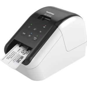 BROTHER Címkenyomtató QL-810W, asztali, thermál, Fekete/Piros nyomtatás, 148 mm/mp, WiFi/USB, 300dpi, PTE Lite, DK címke